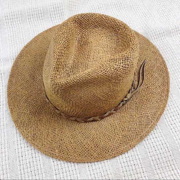 ea9ccc0b Borsalino Accessories   Wide Brimmed Panama Tan Straw Hat   Poshmark